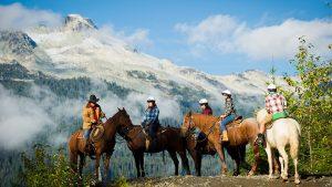 horseback trail riding whistler