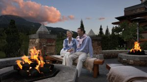Fairmont Chateau Outdoor Fireplace