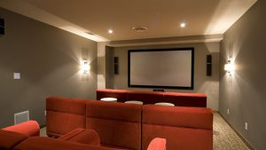 Movie Room with Flat Screen Television