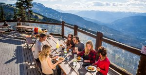 Dining top of Whistler