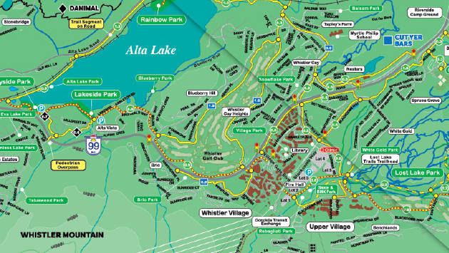 Maps of Whistler