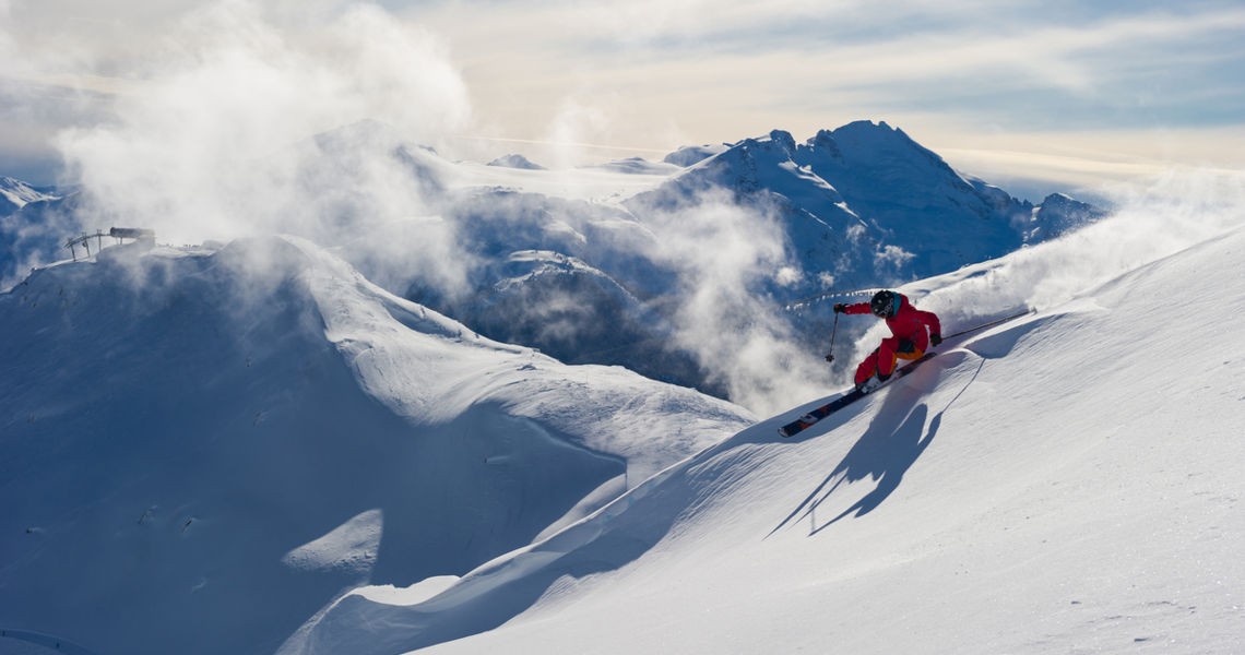 Skier on Whistler Blackcomb Mountain