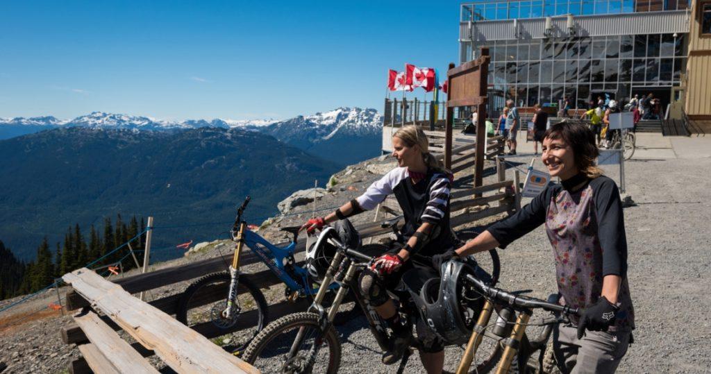 Biking on Whistler Mountain