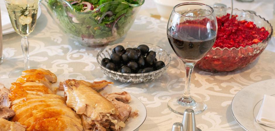 Enjoying a Thanksgiving dinner in Whistler, BC