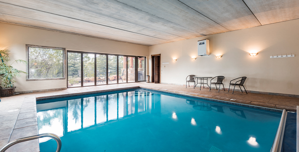 Large private indoor pool