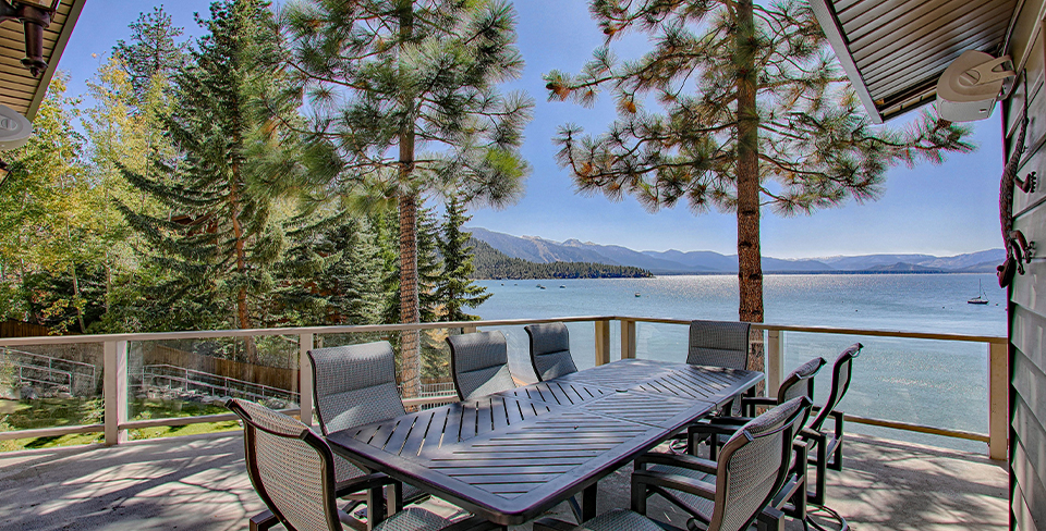 View of Lake Tahoe from luxury property