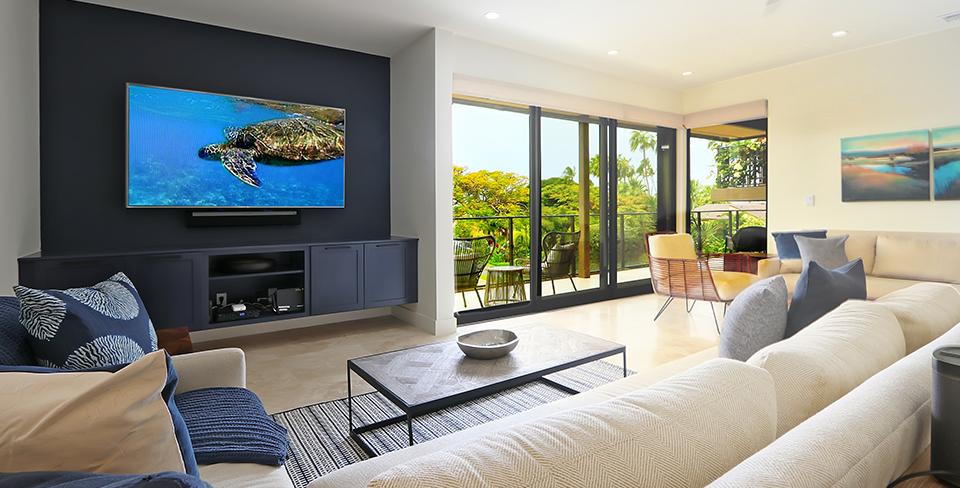 Elua Lani living area, luxury home in Maui