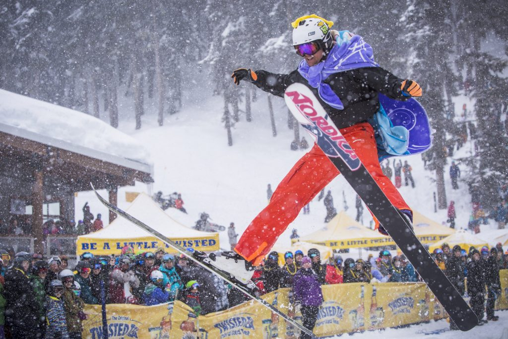Slush Cup on Blackcomb mountain during WSSF. Photo by Justa Jeskova