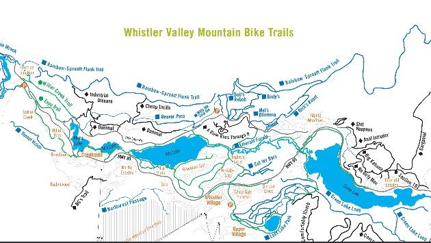 Whistler Biking Maps