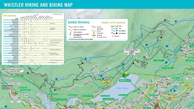 Whistler Valley Trail Maps