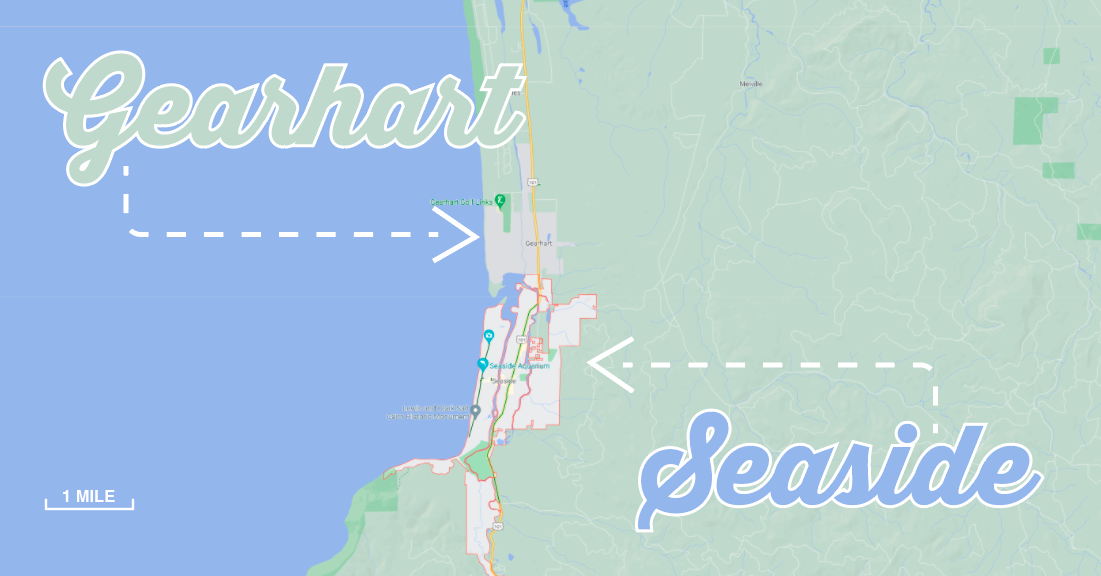 Gearhart vs. Seaside Oregon: What's the Difference?