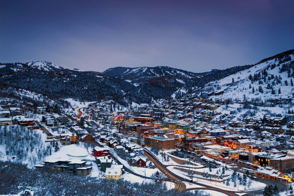 Downtown Park City at night