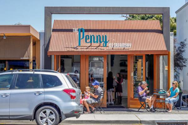 the penny ice creamery in pleasure point, ca