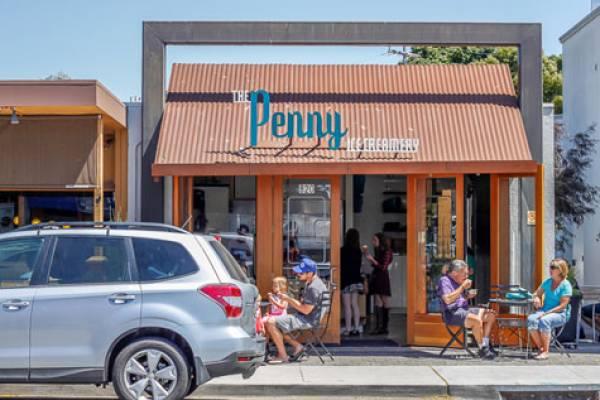 the penny ice creamery in pleasure point, ca
