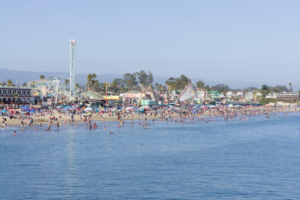 Image of Boardwalk Beach in Santa Cruz California
