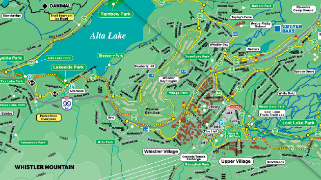 Maps of Whistler