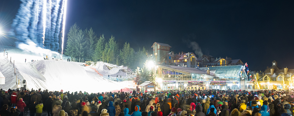 Fire and Ice Show on Whistler Mountain