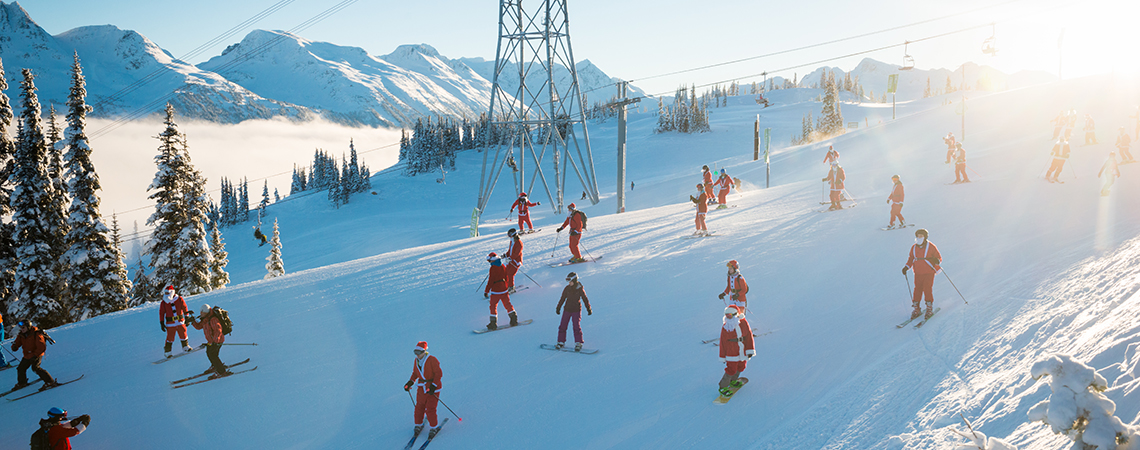 Whistler Mountain Ski With Santa Claus