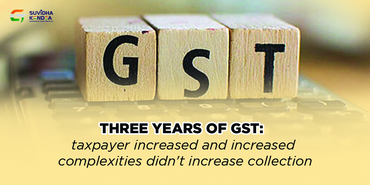 Three years of GST