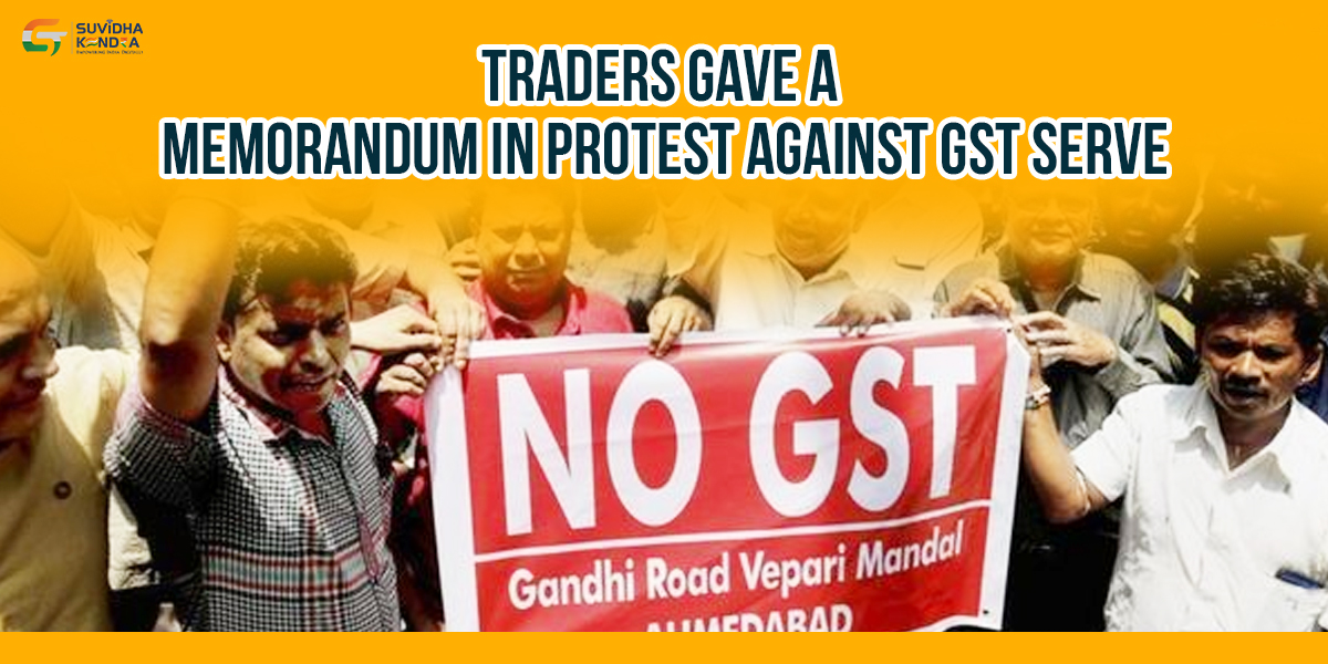 protest against GST serve