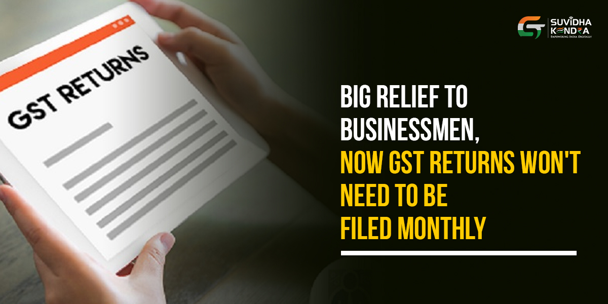Big relief to businessmen