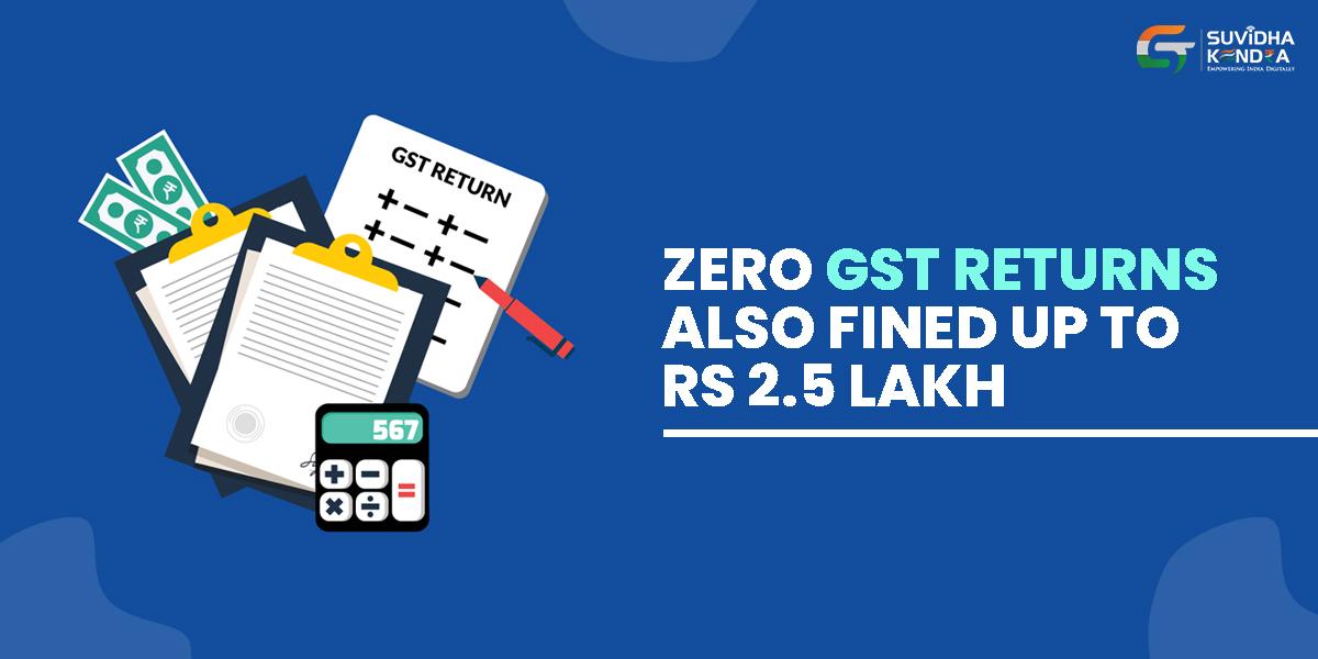 Zero GST returns