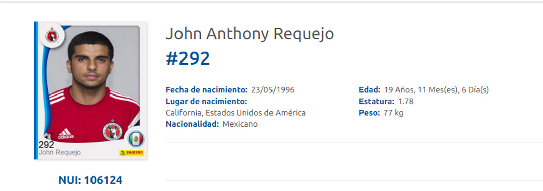 John Requejo Debutó Con Tijuana.