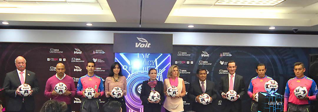 Se Presentó el Balón de la Campaña Rosa y Azul.