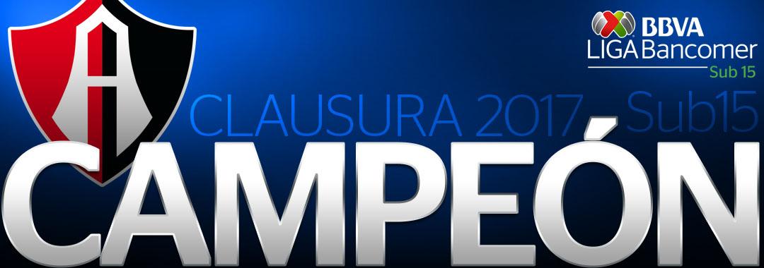 Atlas Campeón de la LIGA Bancomer MX Sub-15