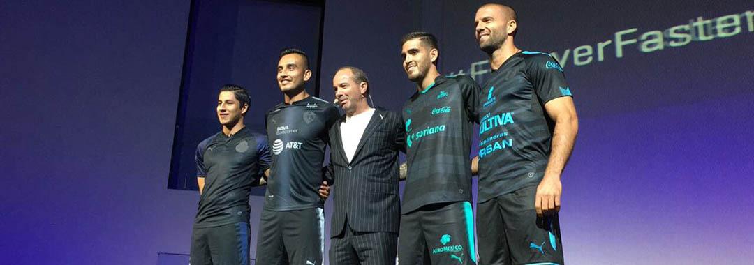 PUMA y cuatro clubes de la LIGA Bancomer MX presentaron el uniforme   StepOut para el Apertura 2017 en la Ciudad de México. 435d319406fbe