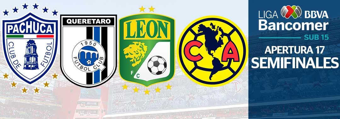 Definidas las Semifinales de la LIGA Bancomer MX Sub15