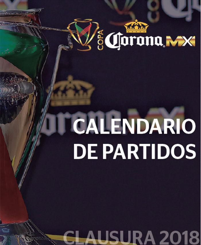 La COPA Corona MX da a conocer el calendario de juegos para la edición  Clausura 2018. El certamen comenzará el martes 9 de enero. Serán seis  jornadas en la ... 226998f3f1c50