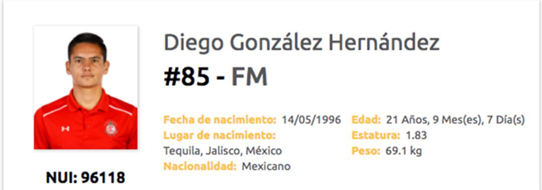 Debut de Diego González