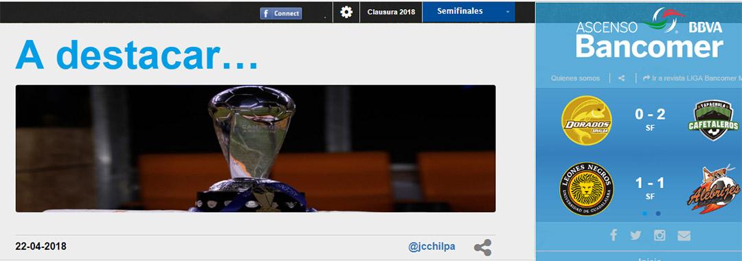 Revista Digital ASCENSO Bancomer MX: Semifinales.