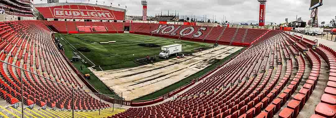 Nuevo Pasto Sintético Para el Estadio Caliente