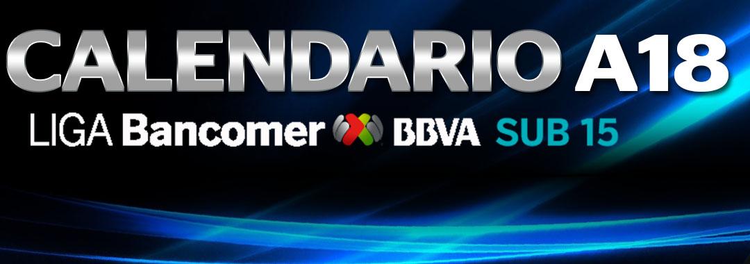 Calendario de la LIGA Bancomer MX Sub15