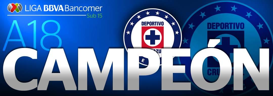 ¡Cruz Azul es Campeón Sub-15!