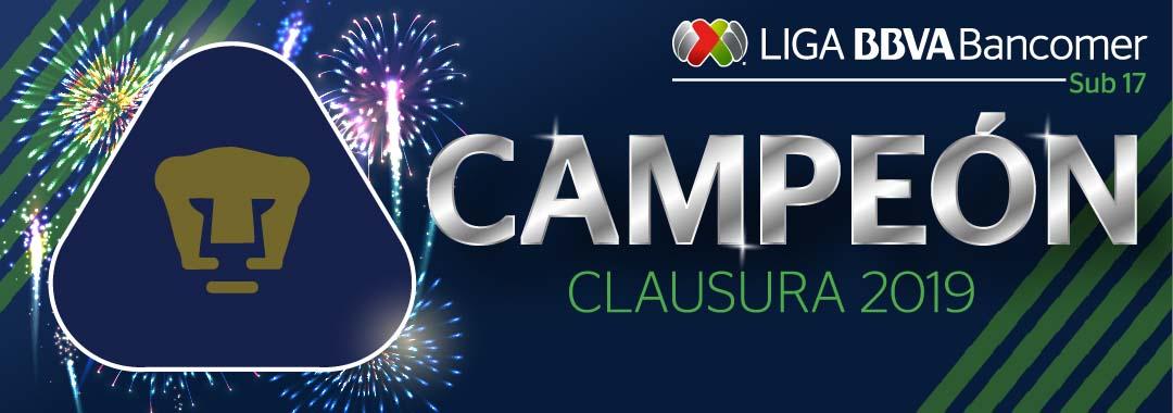 Pumas, Campeón Sub-17 en el Clausura 2019