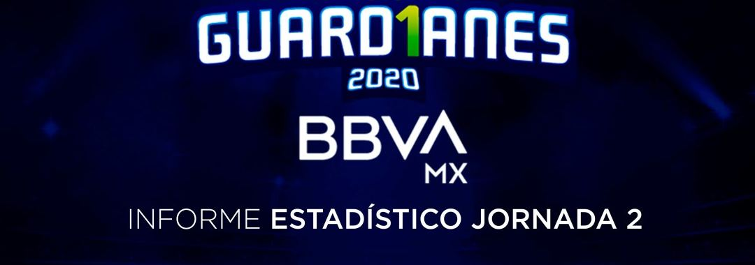 Informe Estadístico de la Jornada 2 de la LIGA BBVA MX