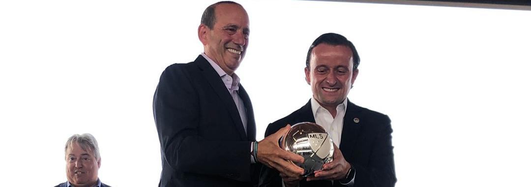 Comisionado de la MLS, Presidente de la LIGA MX y Alcalde de Los Ángeles inauguran Semana del Juego de Estrellas