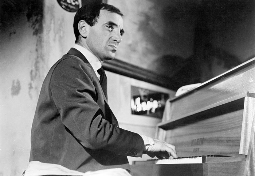 Image result for young aznavour shoot the piano player