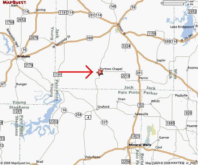 Map Of Jacksboro Texas.51 Acres In Jack County Texas
