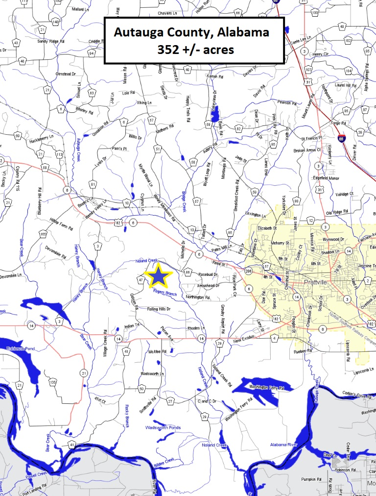 Autauga County Property Map