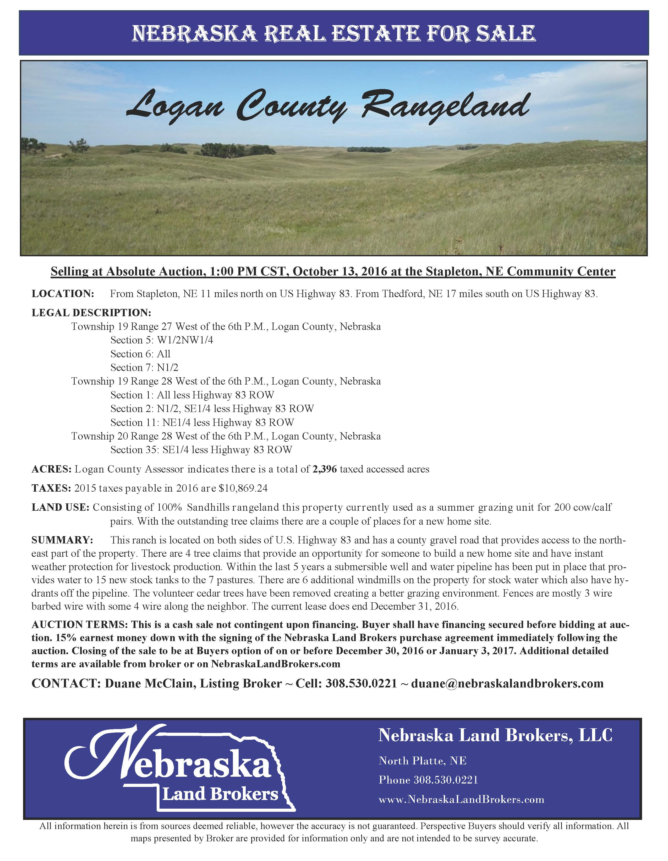 Logan County Rangeland Auction