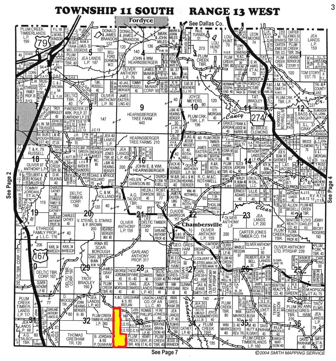 AcresThorton AR Calhoun County - Arkansas land ownership maps