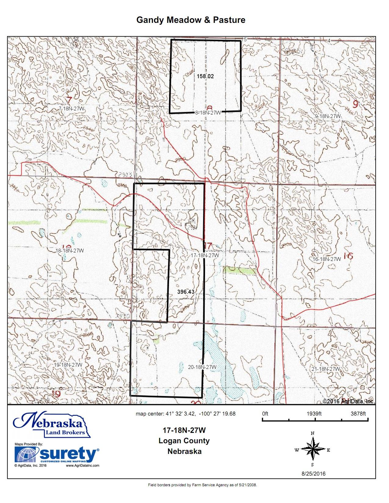 Gandy Meadow Pastures - Surety maps