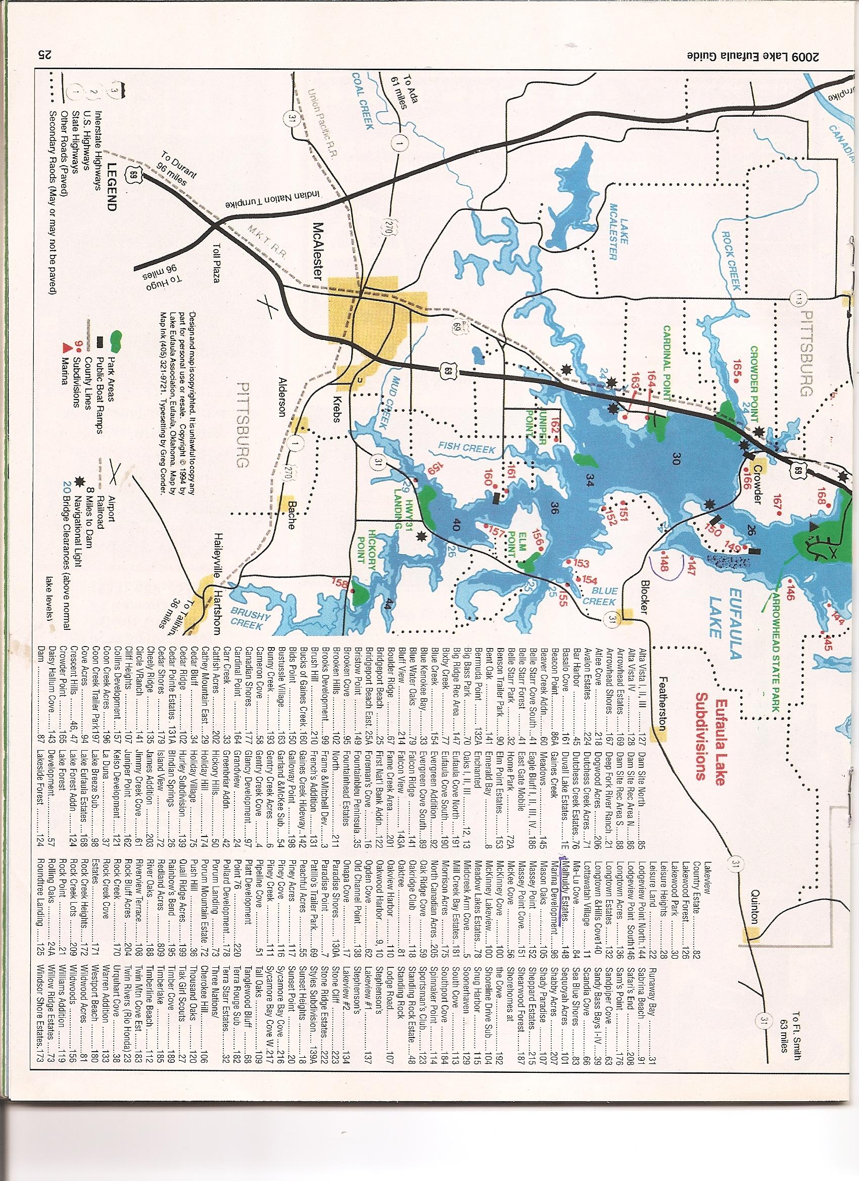 Acres In Pittsburg County Oklahoma - Oklahoma lake map