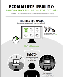 Website performance test infographic