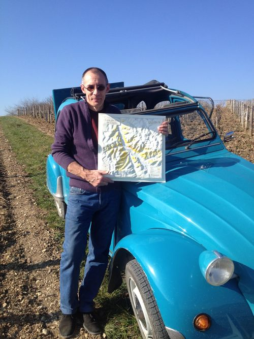Eric Szablowski, Chablis Map, Citroen 2CV. buy photo