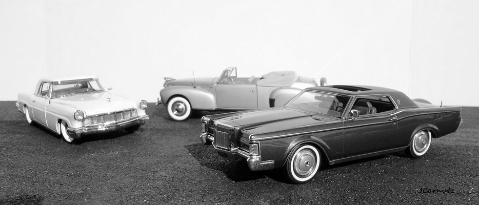 The Lincoln Continental Mark Series. 1971, continental, lincoln, 1956, 1941, 124scale. buy photo